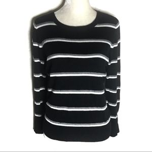 💎 Merona cotton minimalist stripe crew sweater